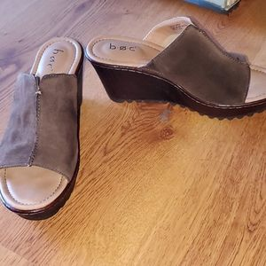 boc Shoes - B.O.C. suede wedge heel size 7 M new